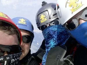 The Mountaineer Scouts pose for a selfie after successfully summiting Youngs Peak during MCamp14.