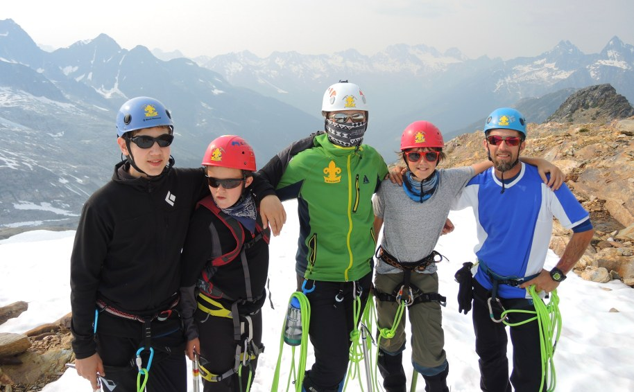 The ties that bind are forged up here! 2014 Mountaineering Camp: Rogers Pass