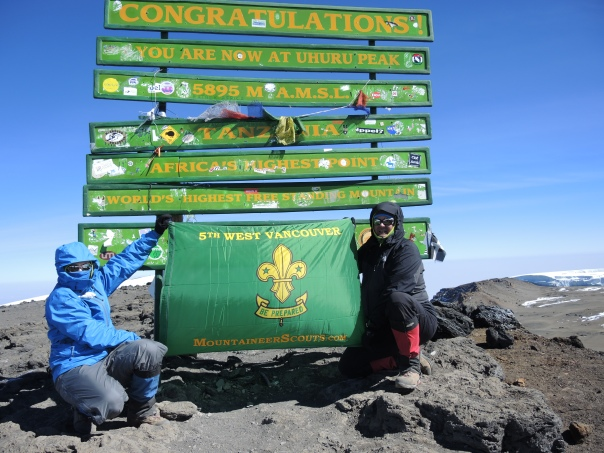 14 year-old Mountaineer Scout Simon summits Kilimanjaro at 9:30 am on Friday, August 2!