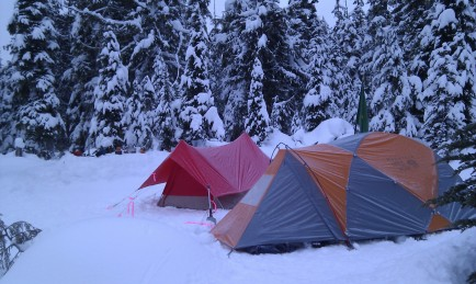 Morning found the camp bathed in a light coating of frost.