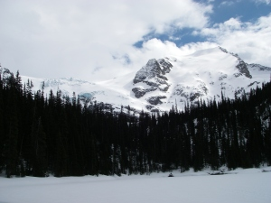 The view from our lunch spot at Middle Joffre Lake.