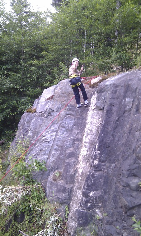 Apparently Max thinks rock climbing is A-Okay!