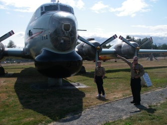 CFB Comox also has a display of all the different actual aircraft that have been stationed at the base over the years.