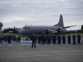 Here LCol Robinson stands in front of his Squadron one last time before turning command over to his successor.