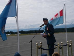 "LCol Robinson says farewell to ""Demon"" Squadron in a speech that was both moving and darn funny at the same time. Typical for the Colonel."