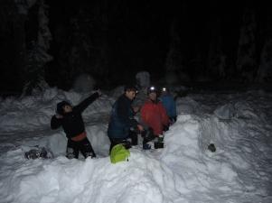 Really happy campers preparing dinner!