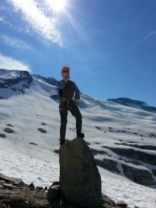"""Venturer Zach taking """"The Thinker"""" out for a spin."""