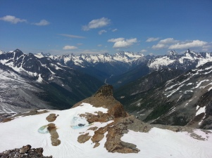 A rock formation called The Pterodactyl overlooks Rogers Pass to the north.