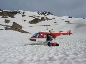 Thanks to Alpine Helicopters of Golden, B.C., for their generous assistance with this project!