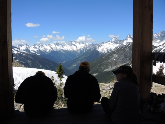 Nice view of Rogers Pass from the front porch.