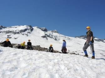 So who can walk up the hill without nicking their pant legs with their crampons?