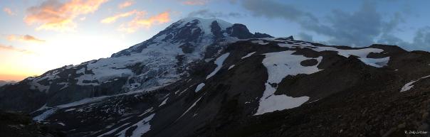 Mt. Rainier at sunset.