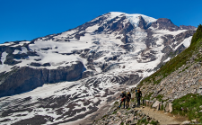 The boys pose for one last photo on their way back down to Paradise and home. | Q. What does it take to climb Mount Rainier? A. Everything you've got.